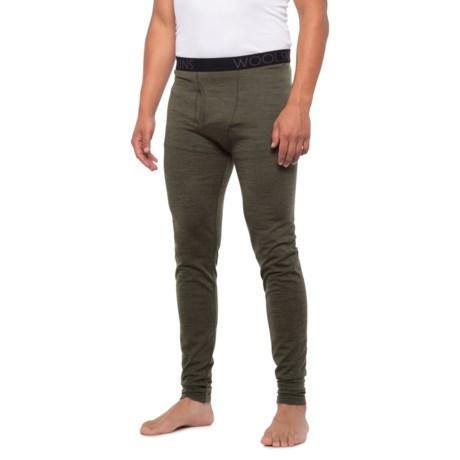 Merino Woolskins Base Layer Pants (For Men) - Green (M )