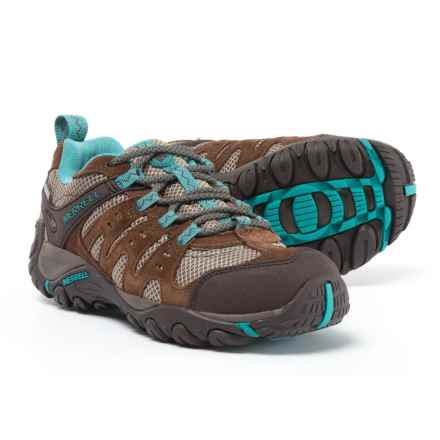 Merrell Accentor Hiking Shoes - Waterproof (For Women) in Dark Earth/Brittany Blue - Closeouts