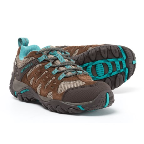 Merrell Accentor Hiking Shoes - Waterproof (For Women) in Dark Earth/Brittany Blue