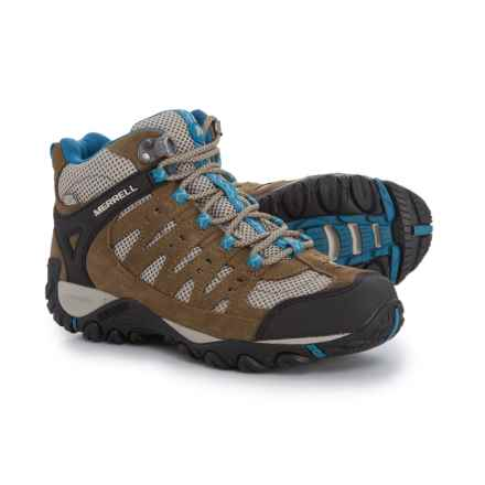 Merrell Accentor Mid Vent Hiking Boots - Waterproof (For Women) in Kangaroo/Celestia - Closeouts