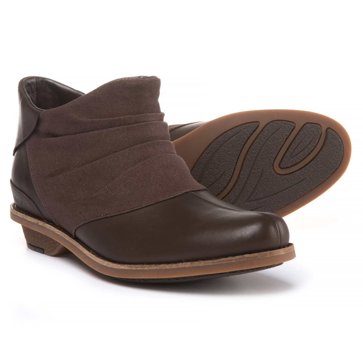 e5fd875738b9 Merrell Adaline Bluff Leather Ankle Boots (For Women)