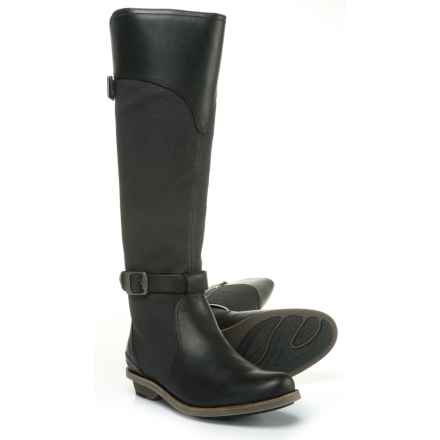 Merrell Adaline Tall Rider Riding Boots (For Women) in Black - Closeouts