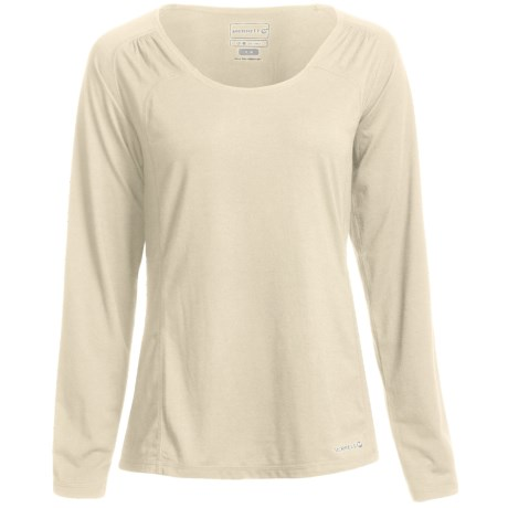 Merrell Adeeline T-Shirt - UPF 20+, Long Sleeve (For Women) in Sea Salt