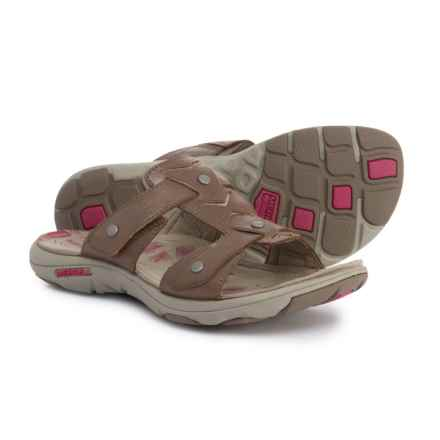 Merrell Adhera Slide Sandals - Leather (For Women) in Brown - Closeouts
