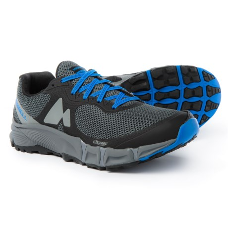 Merrell Agility Charge Flex Trail Running Shoes (For Men) in Black
