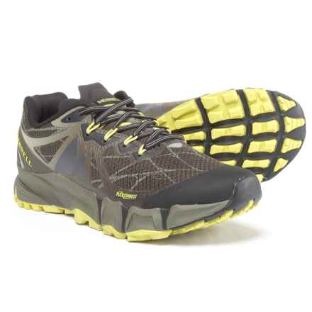 Merrell Agility Peak Flex Trail Running Shoes (For Men) in Beluga/Olive - Closeouts