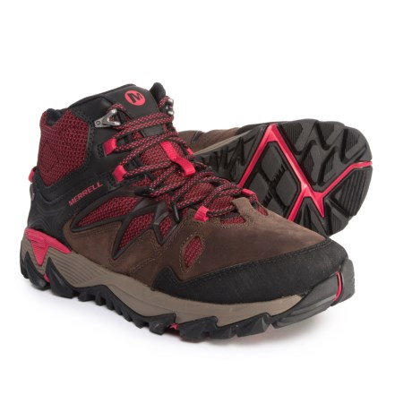 Merrell All Out Blaze 2 Mid Hiking Boots - Waterproof (For Women) in Cinnamon