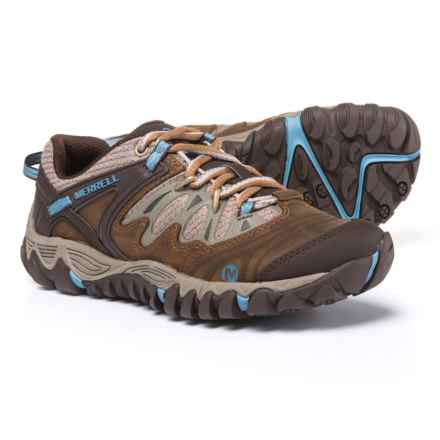 Merrell All Out Blaze Hiking Shoes (For Women) in Brown Sugar/Blue Heaven - Closeouts
