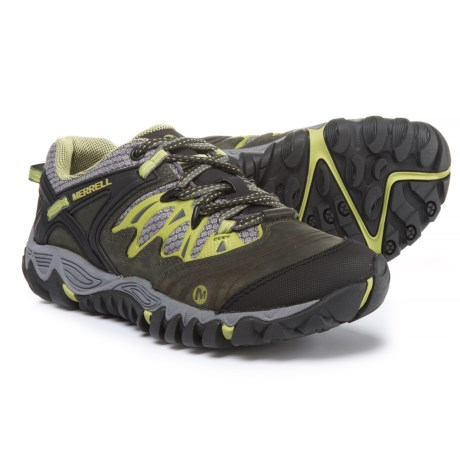 Merrell Women's All Out Blaze Hiking Shoe,Charcoal/Moss,8 M US