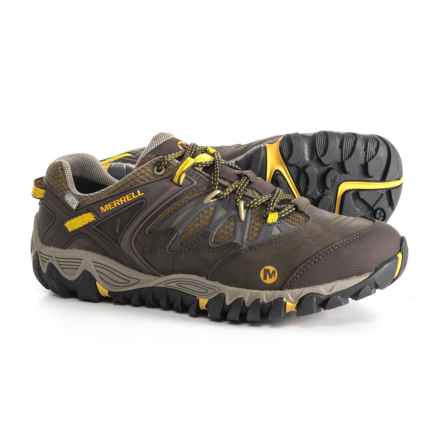 Merrell All Out Blaze Hiking Shoes - Waterproof (For Men) in Black Slate/Yellow - Closeouts