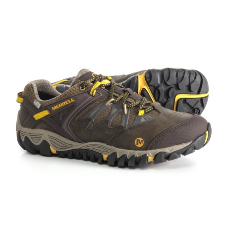 Merrell All Out Blaze Hiking Shoes - Waterproof (For Men) in Black Slate/Yellow