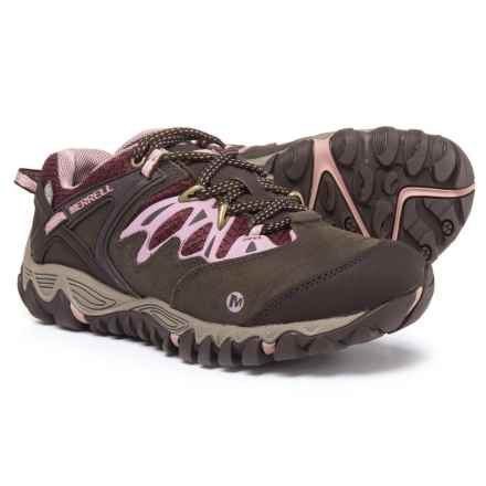 Merrell All Out Blaze Hiking Shoes - Waterproof (For Women) in Black Slate/Blush - Closeouts