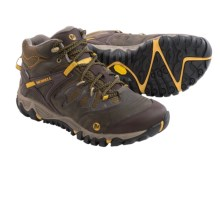 Merrell All Out Blaze Mid Hiking Boots - Waterproof (For Men) in Blake Slate/Yellow - Closeouts