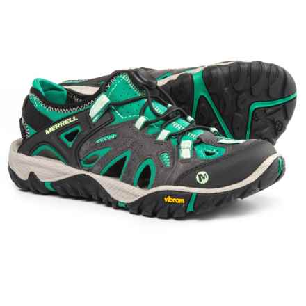 Merrell All Out Blaze Sieve Hiking Shoes (For Women) in Bright Green - Closeouts