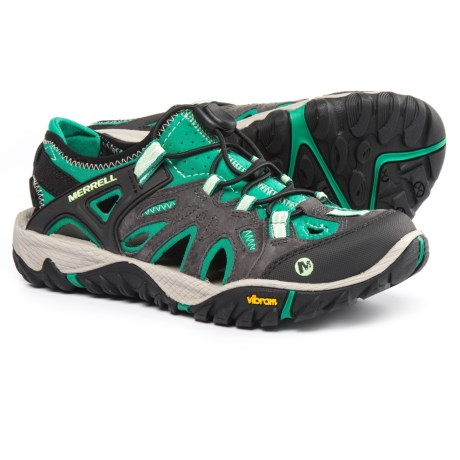 Merrell All Out Blaze Sieve Hiking Shoes (For Women) in Bright Green