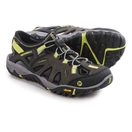 Merrell All Out Blaze Sieve Sport Sandals (For Men) in Castle Rock/Green Oasis - Closeouts