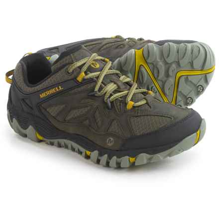 Merrell All Out Blaze Ventilator Hiking Shoes (For Men) in Olive - Closeouts