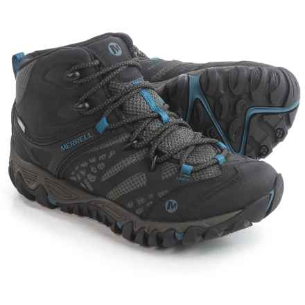 Merrell All Out Blaze Ventilator Mid Hiking Boots - Waterproof, Leather (For Women) in Black - Closeouts