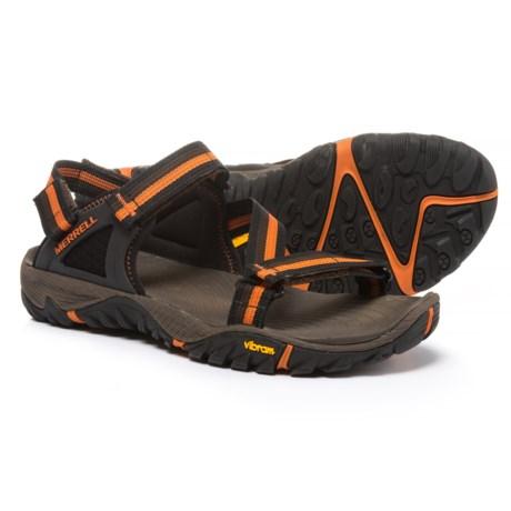 Merrell All Out Blaze Web Sandals (For Men) in Slate Black