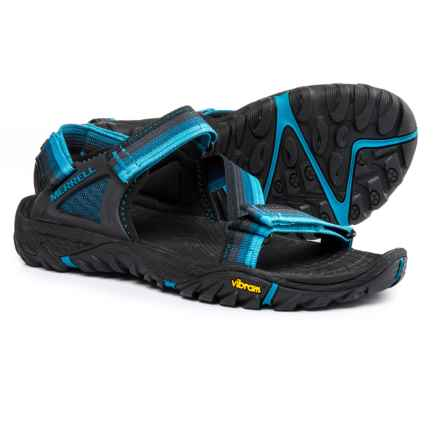 Merrell All Out Blaze Web Sport Sandals (For Men) in Ebony - Closeouts