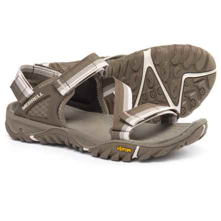 Merrell All Out Blaze Web Sport Sandals (For Women) in Aluminum - Closeouts