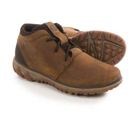 Merrell All Out Blazer Chukka Boots - Leather (For Men) in Merrell Tan - Closeouts