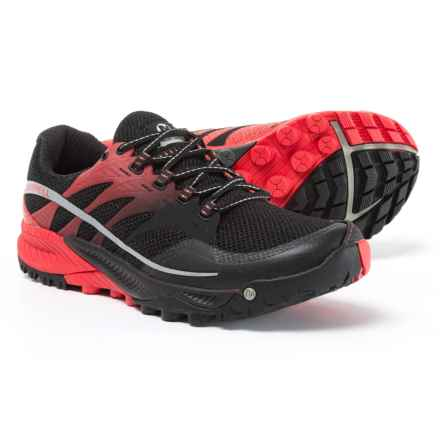 Merrell All Out Charge Trail Running Shoes (For Men) in Black/Molten Lava - Closeouts