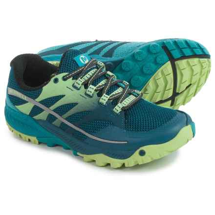 Merrell All Out Charge Trail Running Shoes (For Women) in Blue - Closeouts