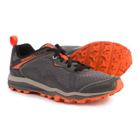 Merrell All Out Crush Light Trail Running Shoes (For Men) in Grey/Orange