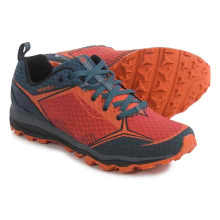 Merrell All Out Crush Shield Trail Running Shoes (For Men) in Merrell Orange - Closeouts