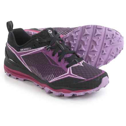 Merrell All Out Crush Shield Trail Running Shoes (For Women) in Black/Purple - Closeouts