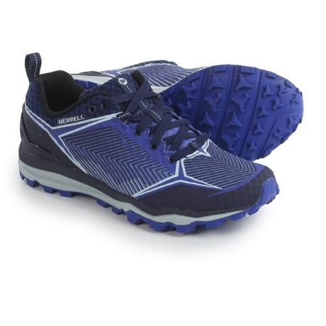Merrell All Out Crush Shield Trail Running Shoes (For Women) in Surf The Web