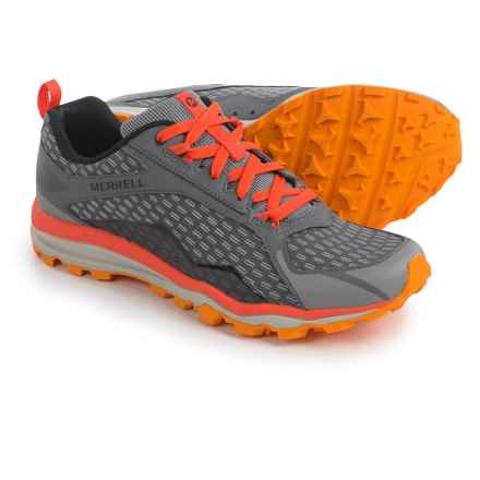 Merrell All Out Crush Trail Running Shoes (For Men) in Grey/Orange - Closeouts