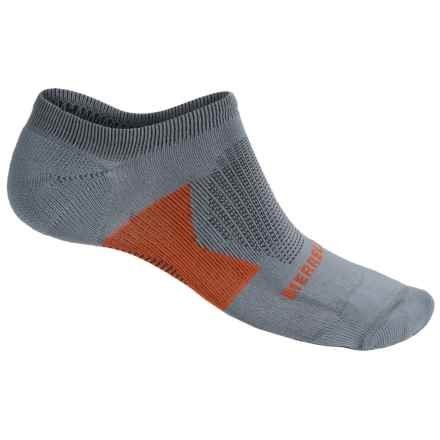 Merrell All Out NanoGLIDE Micro-Crew Socks - Below the Ankle (For Men) in Sidewalk - Closeouts