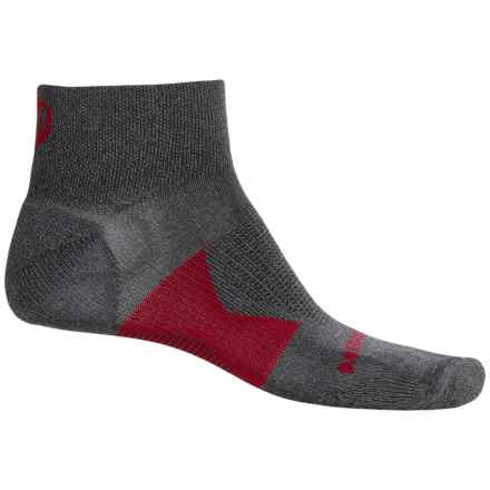 Merrell All Out NanoGLIDE® Mini Running Socks - Ankle (For Men) in Black Heather - Closeouts