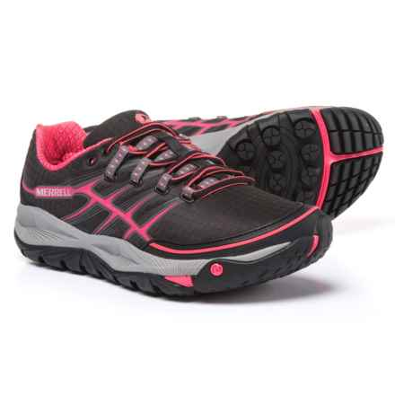 Merrell All Out Rush Trail Running Shoes (For Women) in Black/Paradise Pink - Closeouts