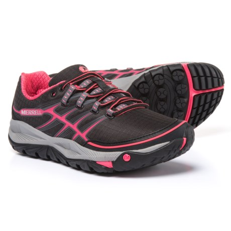 Merrell All Out Rush Trail Running Shoes (For Women) in Black/Paradise Pink