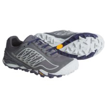 Merrell All Out Terra Ice Trail Running Shoes - Waterproof (For Women) in Grey/Royal Blue - Closeouts