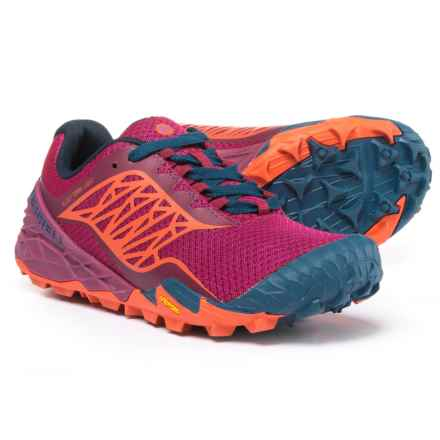 Merrell All Out Terra Light Trail Running Shoes (For Women) in Bright Red - Closeouts