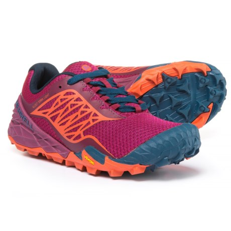 Merrell All Out Terra Light Trail Running Shoes (For Women) in Bright Red