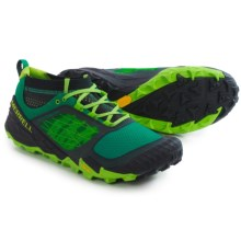 Merrell All Out Terra Trail Shoes (For Men) in Bright Green - Closeouts