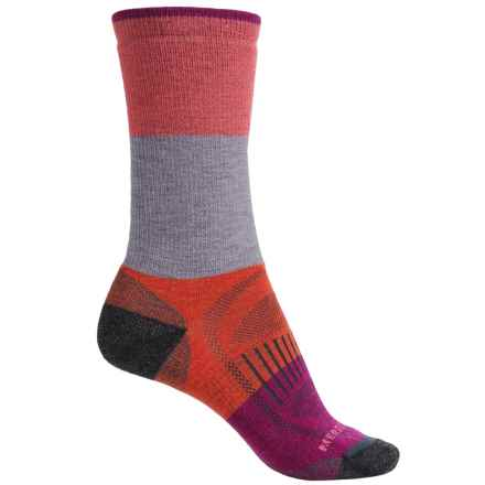 Merrell Alpenglow Socks - Crew (For Women) in Atomic - 2nds