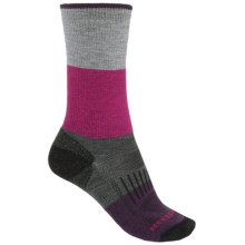 Merrell Alpenglow Socks - Crew (For Women) in Black/Raspberry - 2nds