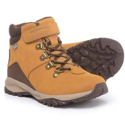 Merrell Alpine Hiking Boots (For Boys) in Wheat - Closeouts