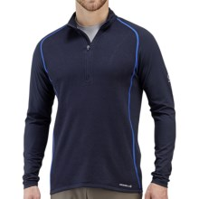 Merrell Alpino Shirt - Wool Blend, Zip Neck, Long Sleeve (For Men) in Ink - Closeouts