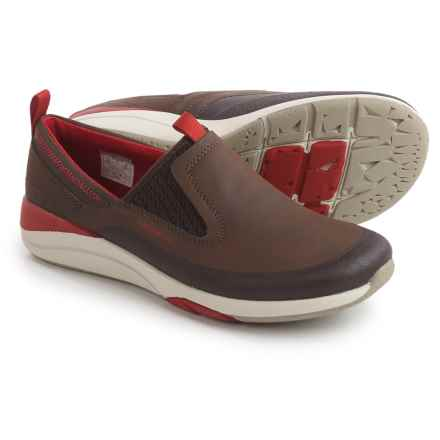 Merrell Applaud Moc Shoes - Leather, Slip-Ons (For Women) in Bracken - Closeouts