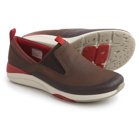 Merrell Applaud Moc Shoes - Leather, Slip-Ons (For Women) in Bracken
