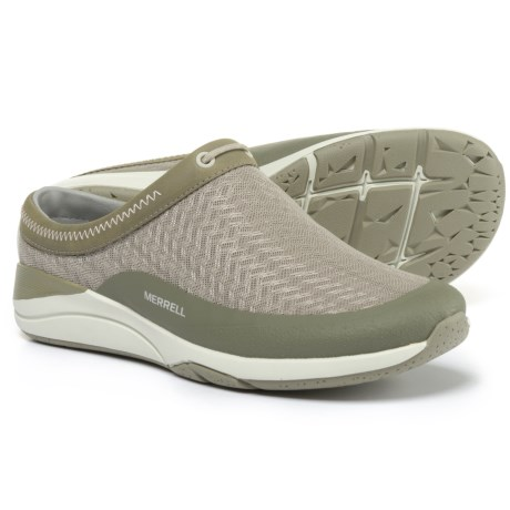 Merrell Applaud Slide Shoes - Slip-Ons (For Women) in Taupe Mesh