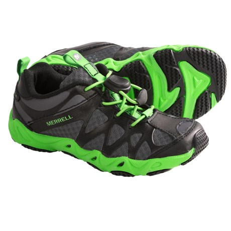 Merrell Aquaterra Sprite Water Shoes (For Boys and Girls) in Black/Classic Green