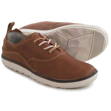 Merrell Around Town Lace Sneakers - Leather (For Women) in Brown Sugar - Closeouts